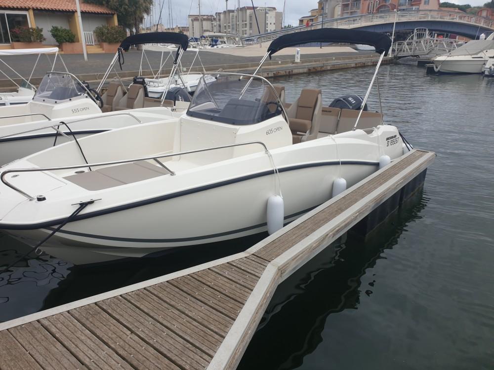 Rental Motorboat in Gruissan - Quicksilver Activ 605 Open