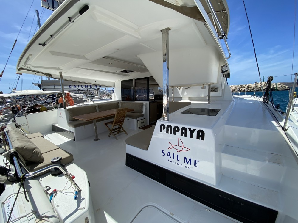 Fountaine Pajot Lucia 40 between personal and professional Ibiza