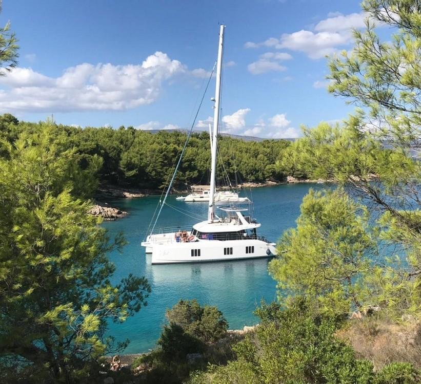 Boat rental Trogir cheap Sunreef 70