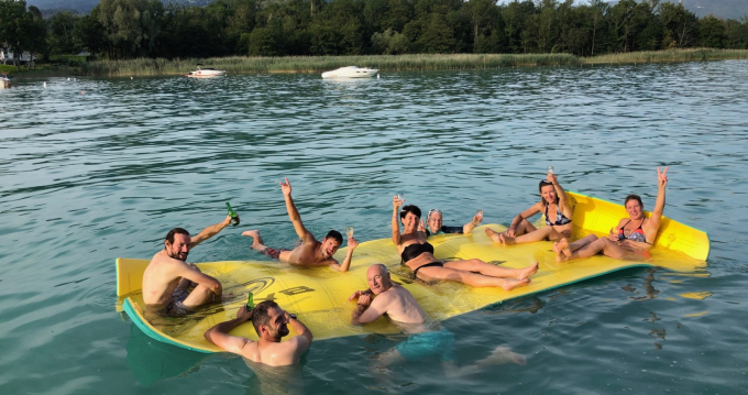 Boat rental Annecy cheap Party Barge 24 DLX