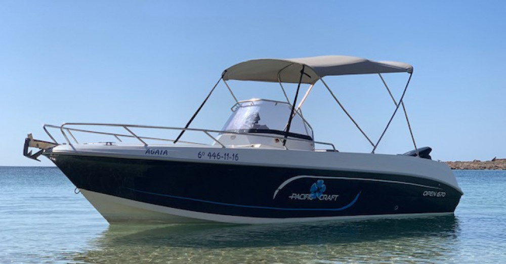 Rental Motorboat in Ibiza -  Pacific Craft 670