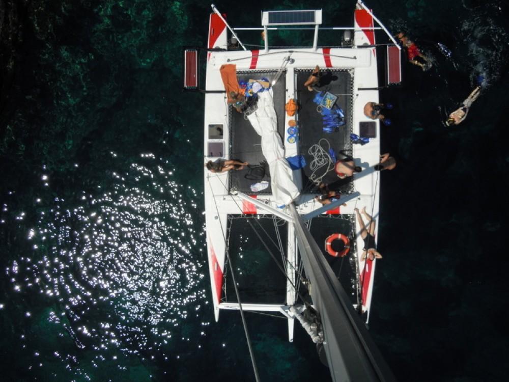 Rental Catamaran Kelt with a permit