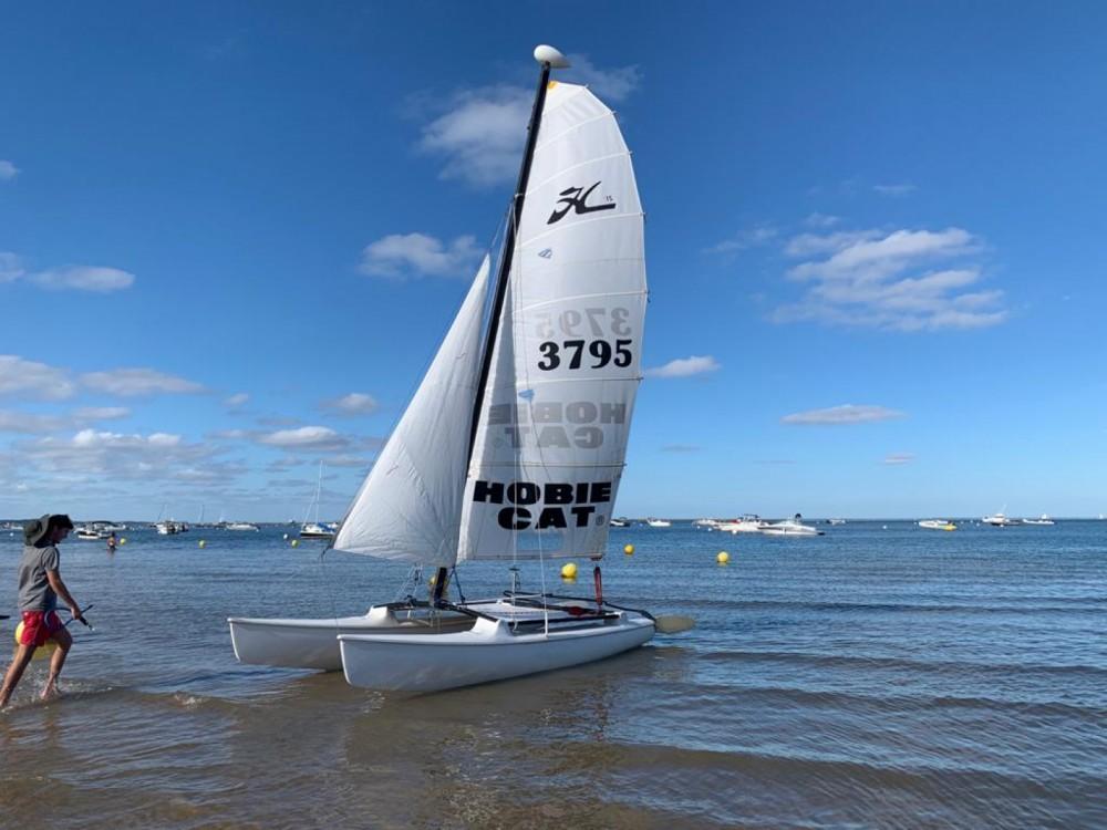 Rental Catamaran Hobie-Cat with a permit