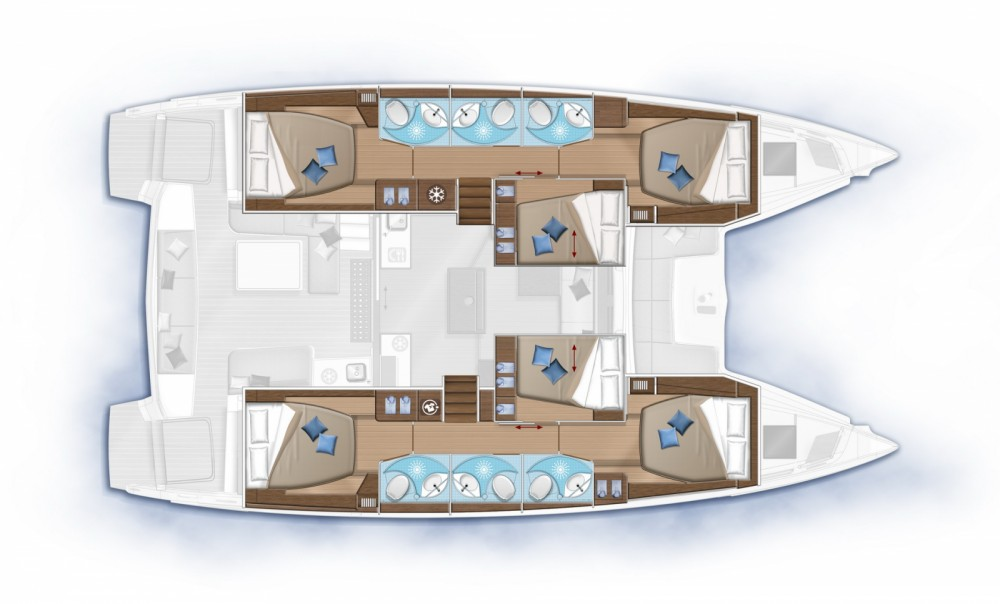 Rental yacht Peloponnese, Western Greece and the Ionian - Lagoon Lagoon 50 on SamBoat