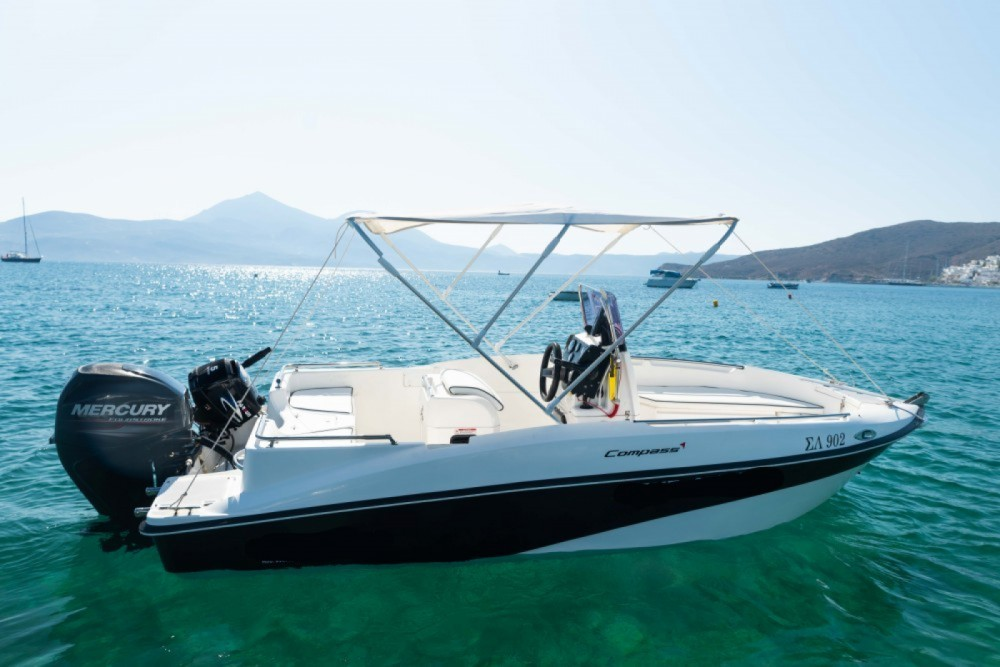 Hire Motorboat with or without skipper compass Aegean