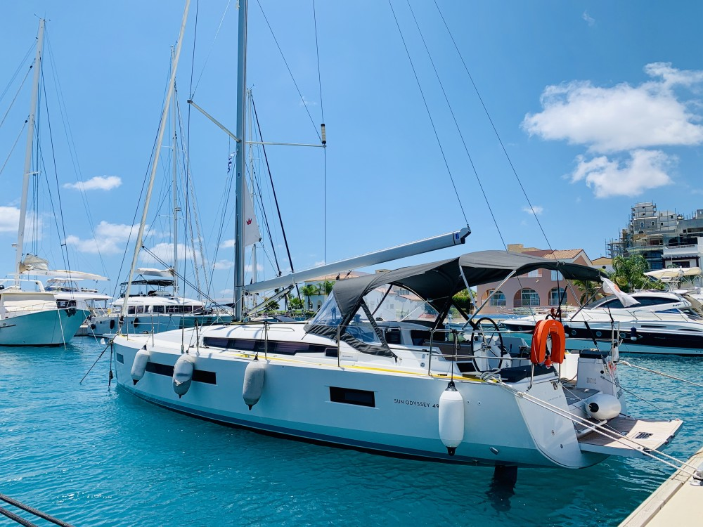 Boat rental Limassol cheap Sun Odyssey 490