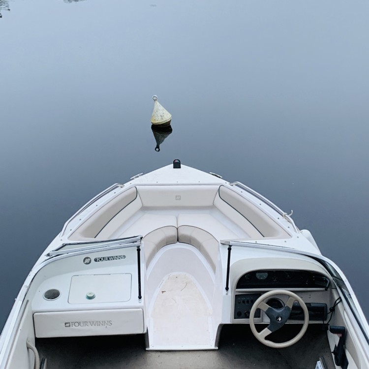 Rental Motorboat Fourwinns with a permit