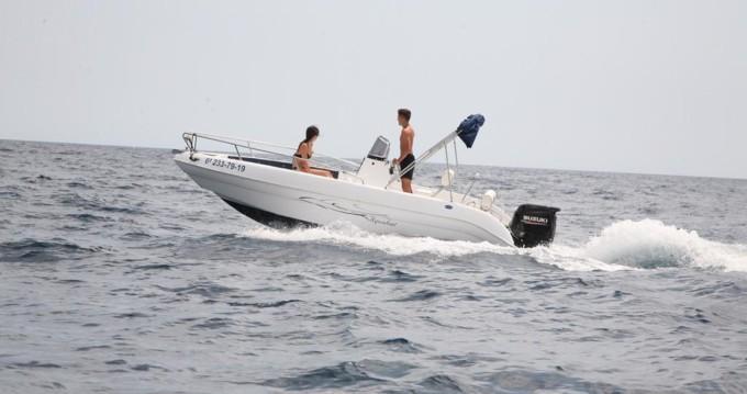 Rent a Aquabat Sport lime 19 Blanes