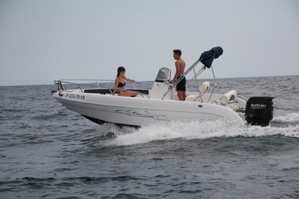 Rental Motorboat in Blanes - Aquabat Sport lime 19