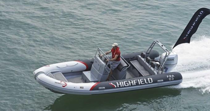 Rental RIB Highfield with a permit