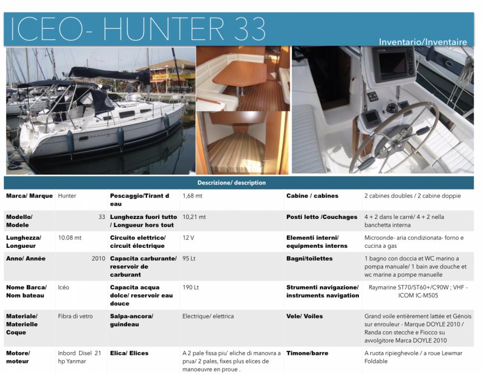 Hunter 33 shoal keel between personal and professional Cagliari