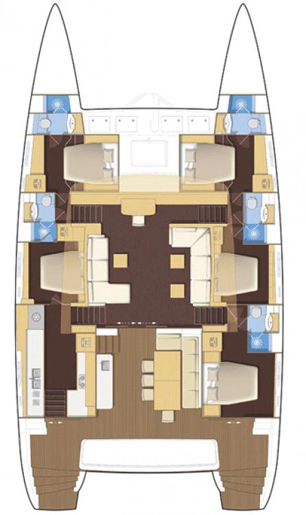 Rental Catamaran in Balearic Islands - Lagoon Lagoon 620 - 5 cab.