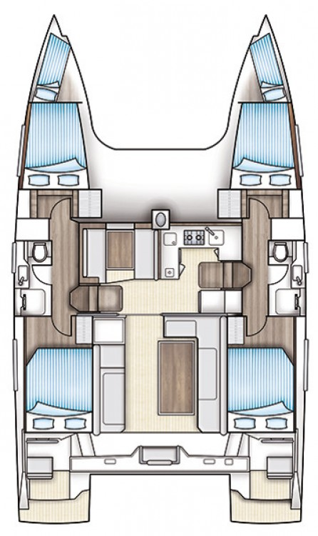 Catamaran for rent Mauritius at the best price