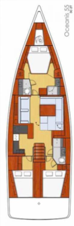 Boat rental Balearic Islands cheap Oceanis 55