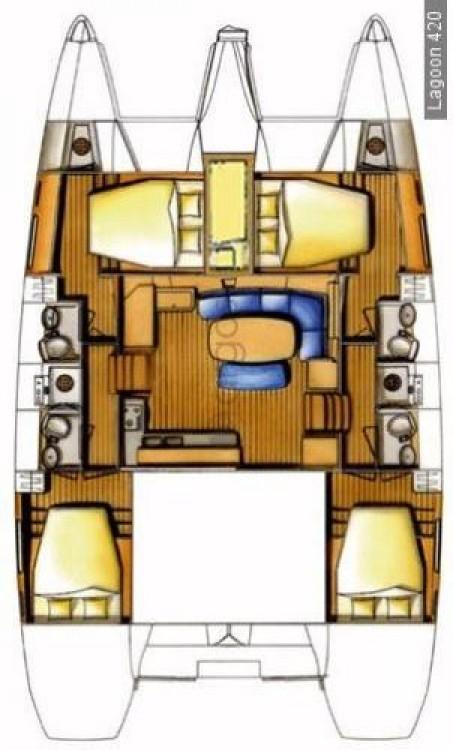 Rental yacht Peloponnese - Lagoon Lagoon 420 - 4 + 1 cab. on SamBoat