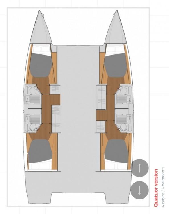 Rental Catamaran in Ionian Islands - Fountaine Pajot Fountaine Pajot Astrea 42 - 4 + 2 cab.