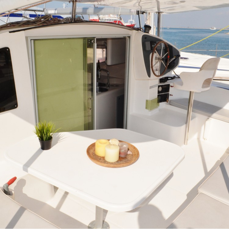 Fountaine Pajot Athena 38 between personal and professional Vólos