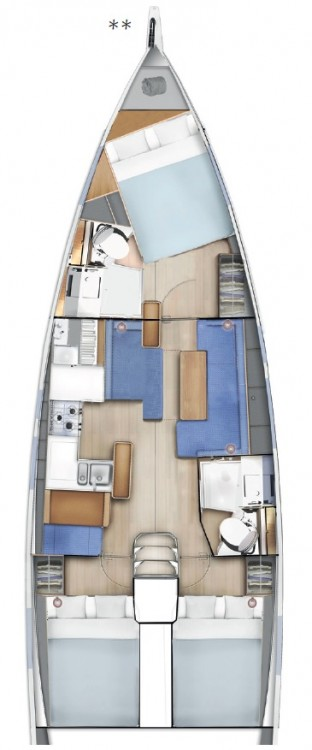 Rental Sailboat in Ionian Islands - Jeanneau Sun Odyssey 410 - 3 cab.