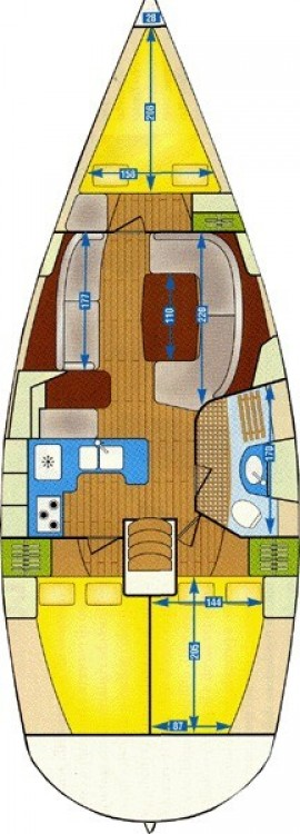 Sailboat for rent Korfu at the best price
