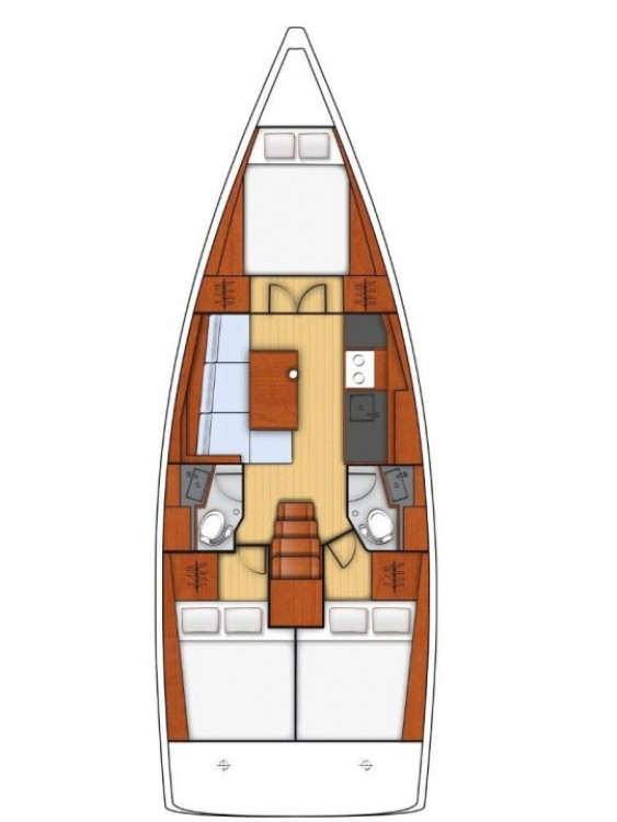 Boat rental Ionian Islands cheap Oceanis 38.1