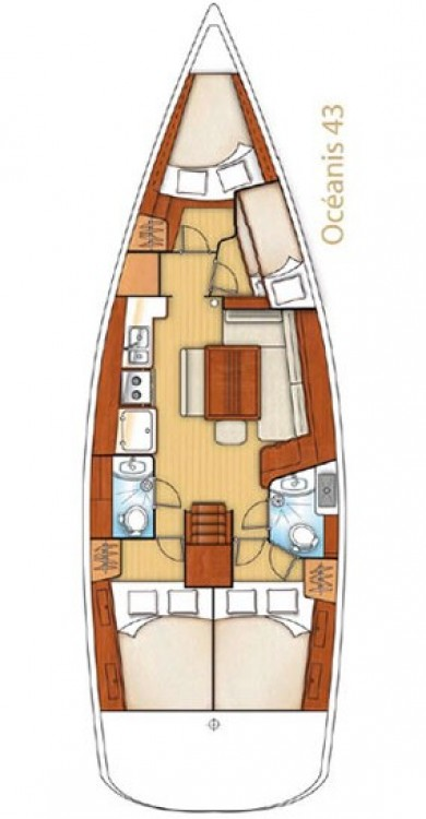 Bénéteau Oceanis 43 between personal and professional Corfù