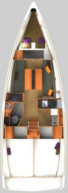 Boat rental Ionian Islands cheap Sun Odyssey 349