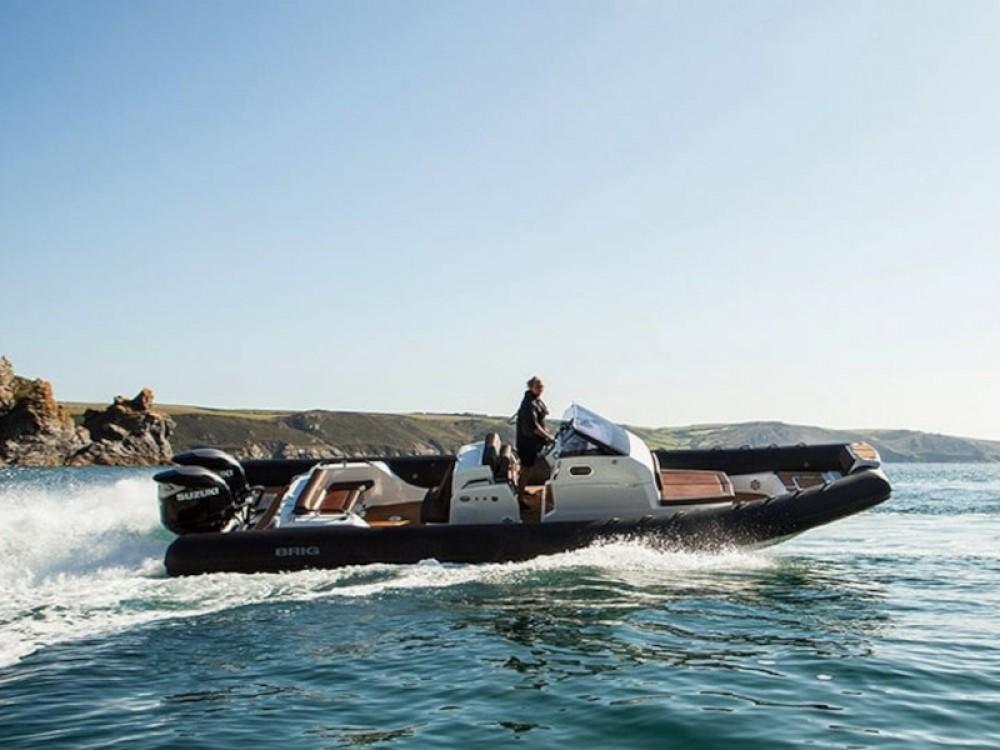 Rental Motorboat Brig with a permit