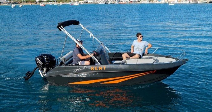 Rental Motorboat in Paros Island - The Sailor's Ride 450 XL