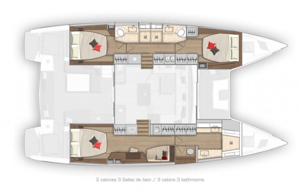 Rental yacht Olbia - Lagoon Lagoon 50 - owner version on SamBoat