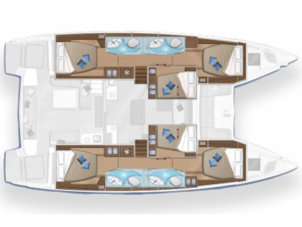 Rental yacht Castellammare di Stabia - Lagoon Lagoon 50 on SamBoat