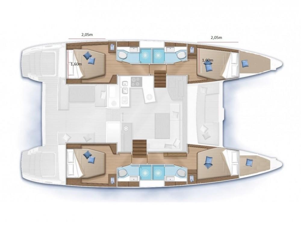 Boat rental  cheap Lagoon 450  Flybridge