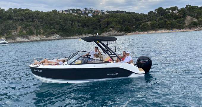 Rental Motorboat in Blanes - Quicksilver Activ 605 Bowrider