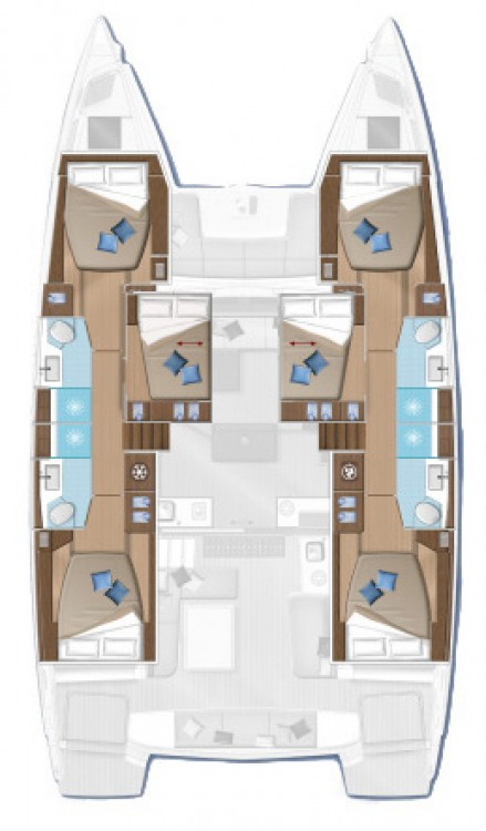 Rental Catamaran in Bahamas - Lagoon Lagoon 50 - 6 + 2 cab.
