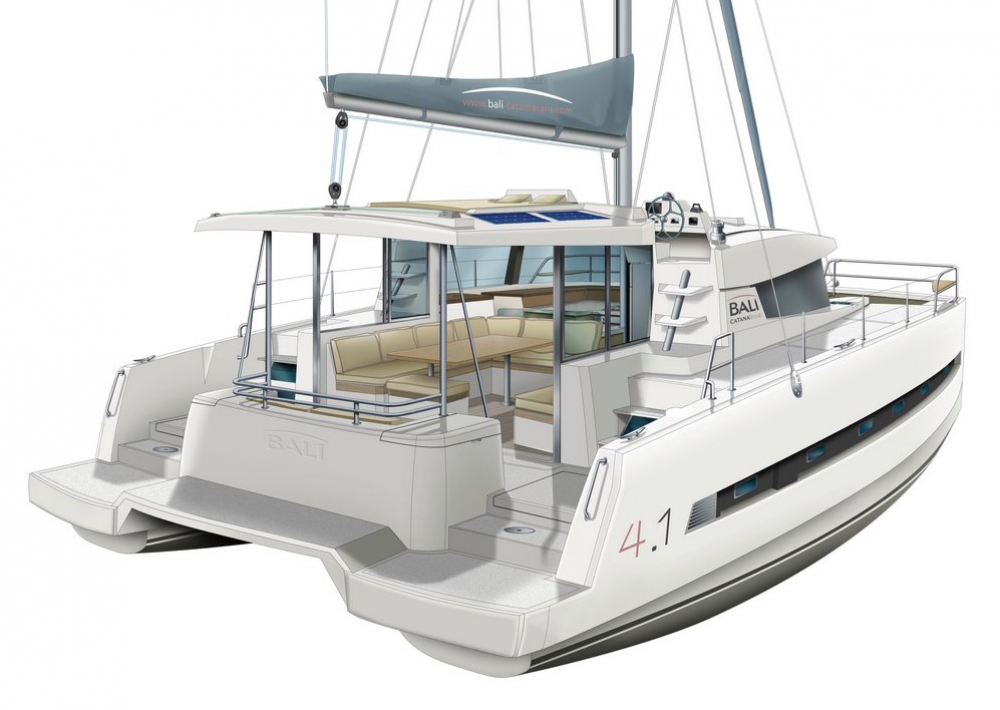 Catana Bali 4.1 - 4 cab. between personal and professional Capocesto