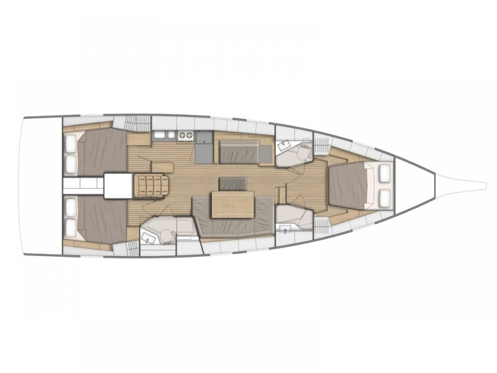Bénéteau Oceanis 46.1 / 3 cabins between personal and professional Pula