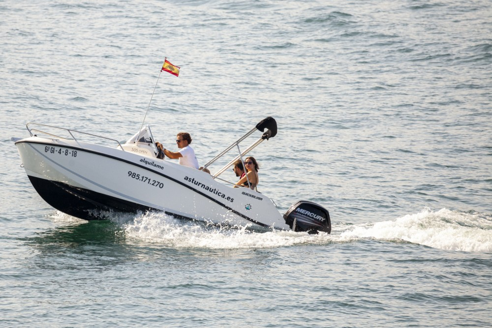 Hire Motorboat with or without skipper Quicksilver Gijón