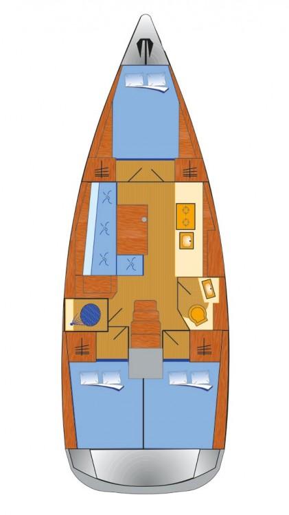Boat rental Bénéteau Oceanis 381 in Grad Pula on Samboat