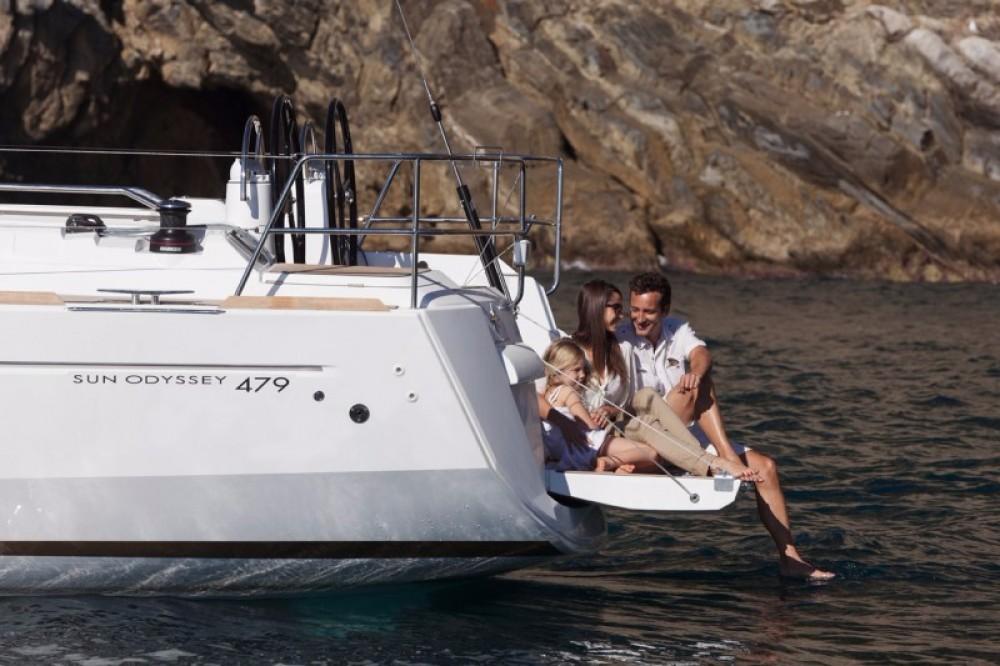 Boat rental Skiathos cheap Sun Odyssey 47