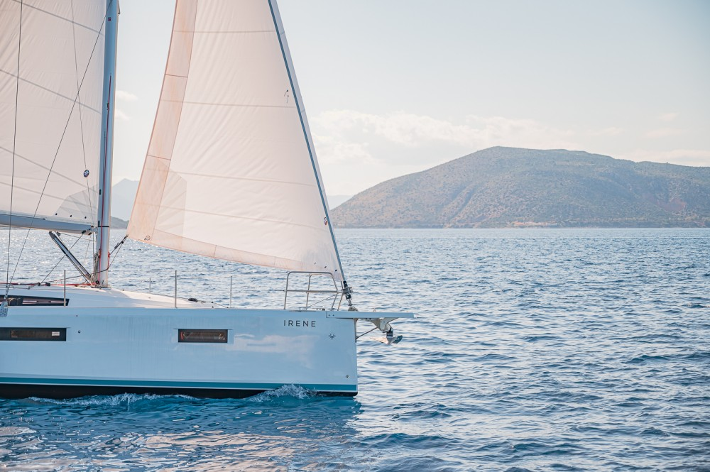 Jeanneau Sun Odyssey 410 between personal and professional Lefkada