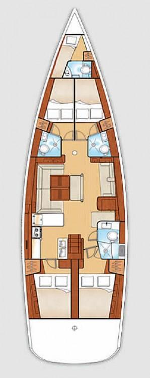 Boat rental Jeanneau Jeanneau 54 in Croatia on Samboat