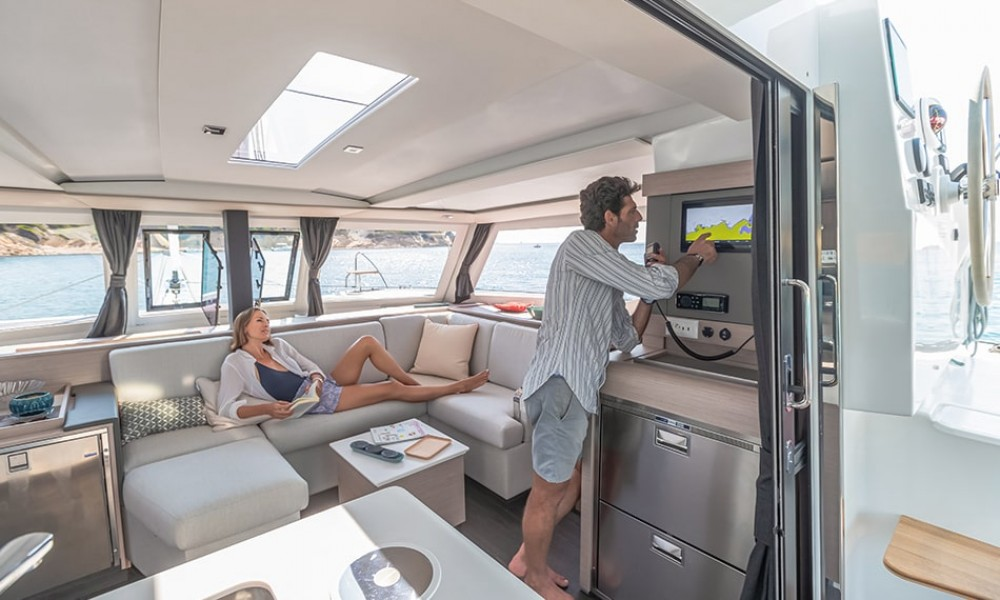 Fountaine Pajot Isla 40 between personal and professional Lefkada