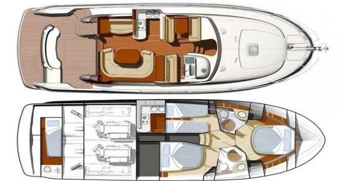 Boat rental Jeanneau Jeanneau Prestige 46 Fly in Split on Samboat