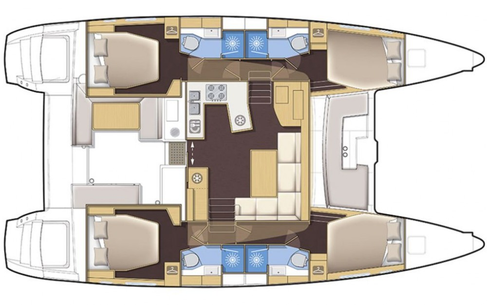 Boat rental Newport cheap Lagoon 450