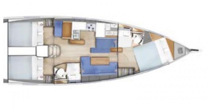 Boat rental Tropea cheap Sun Odyssey 410 Performance