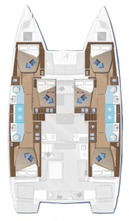 Rental Catamaran in Šibenik - Lagoon Lagoon 50 - 6 + 2 cab.