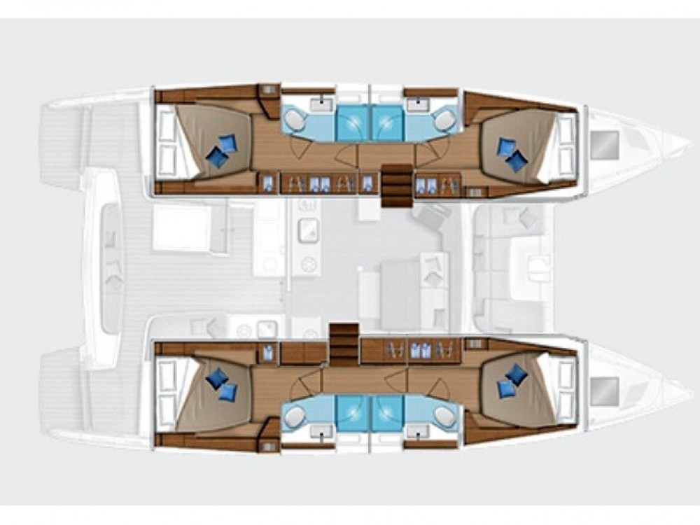 Boat rental  cheap Lagoon 46 (Gen+A/C+WM)