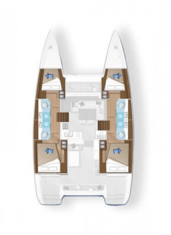 Boat rental Rogoznica cheap Lagoon 42 - 3 + 1 cab.