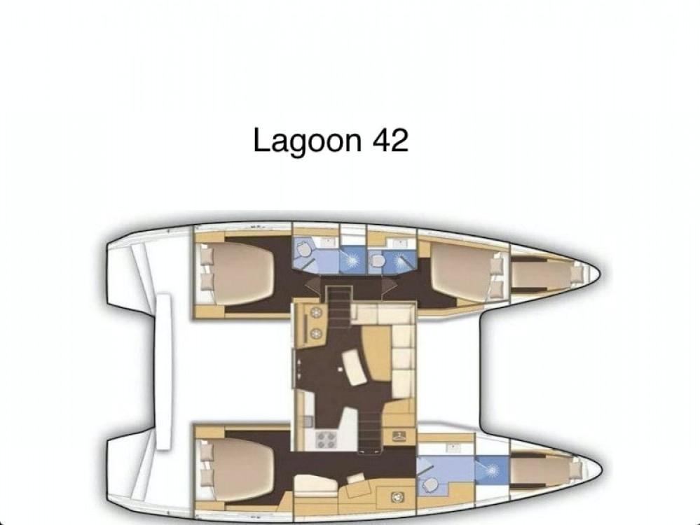 Rent a Lagoon Lagoon 42 owner version Rogoznica