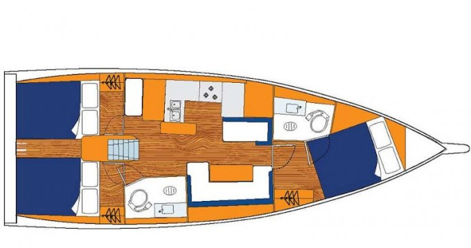 Rental Sailboat in Rodney Bay - Jeanneau Sunsail 41.0