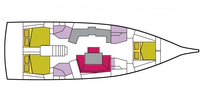 Boat rental Marina di Portorosa cheap Oceanis 46.1